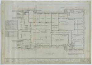 Primary view of object titled 'First Baptist Church, Breckenridge, Texas: Ground Floor Plan'.