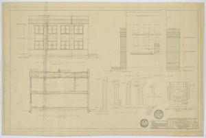 Primary view of object titled 'First Baptist Church Educational Building, Breckenridge, Texas: Elevations and Details'.