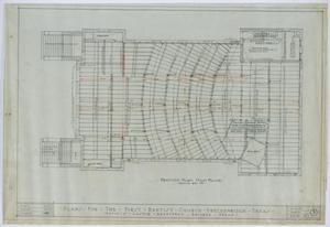 Primary view of object titled 'First Baptist Church, Breckenridge, Texas: Main Floor Framing Plan'.