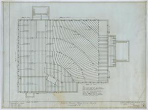 Primary view of object titled 'First Christian Church, Lufkin, Texas: First Floor Framing Plan'.
