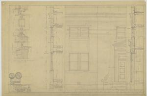 Primary view of object titled 'First Baptist Church Educational Building, Breckenridge, Texas: Exterior Wall Details'.