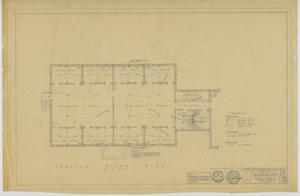 Primary view of object titled 'First Baptist Church Educational Building, Breckenridge, Texas: Second Floor Mechanical Plan'.