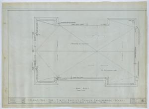 Primary view of object titled 'First Baptist Church, Breckenridge, Texas: Roof Plan'.