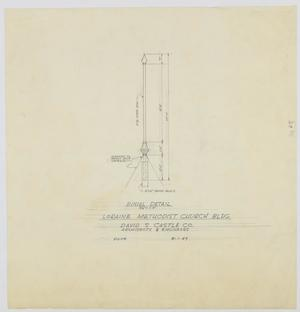 Primary view of object titled 'Methodist Church Building, Loraine, Texas: Finial Detail'.