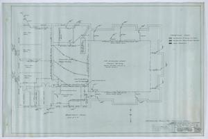 Primary view of object titled 'First Methodist Church Addition, Anson, Texas: Basement Plan'.