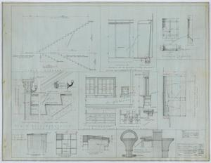 Primary view of object titled 'Holy Trinity Parish School Building, Dallas, Texas: Miscellaneous Details'.