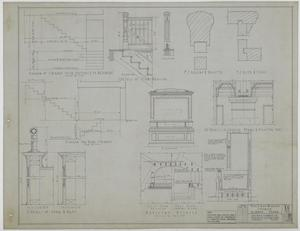 Primary view of object titled 'First Baptist Church, Albany, Texas: Auditorium Details'.