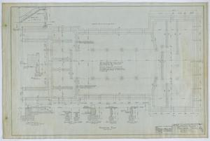 Primary view of object titled 'First Methodist Church, Ballinger, Texas: Foundation Plan'.
