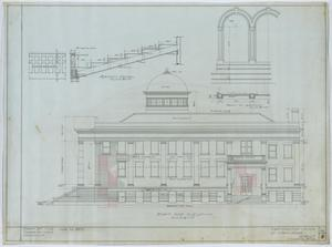 Primary view of object titled 'First Christian Church, Lufkin, Texas: Right Side Elevation'.