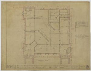 Primary view of object titled 'First Methodist Episcopal Church, De Leon, Texas: Basement Plan'.