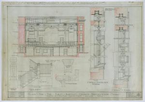Primary view of object titled 'First Baptist Church, Breckenridge, Texas: Cross Section'.