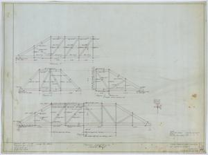 Primary view of object titled 'First Christian Church, Lufkin, Texas: Truss Details'.