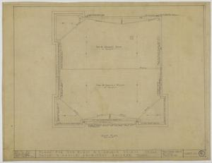 Primary view of object titled 'First Methodist Episcopal Church, De Leon, Texas: Roof Plan'.