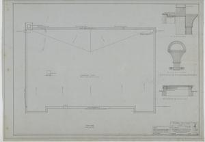 Primary view of object titled 'Holy Trinity Parish School Building, Dallas, Texas: Roof Plan'.