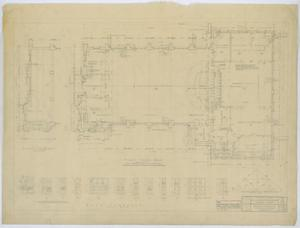 Primary view of object titled 'Community Church, Kermit, Texas: First Floor Plan'.