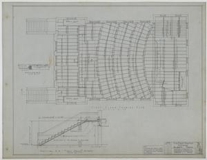 Primary view of object titled 'First Baptist Church, Albany, Texas: First Floor Framing Plan'.