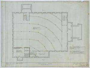 Primary view of object titled 'First Christian Church, Lufkin, Texas: Basement Plan'.