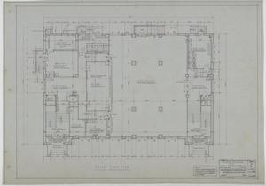Primary view of object titled 'Holy Trinity Parish School Building, Dallas, Texas: Ground Floor Plan'.