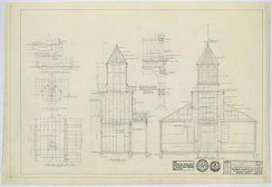 Primary view of object titled 'Methodist Church Building, Loraine, Texas: Sections'.
