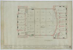 Primary view of object titled 'First Baptist Church, Breckenridge, Texas: Second Floor Plan'.