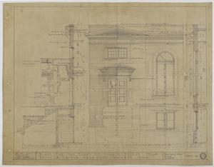 Primary view of object titled 'First Methodist Episcopal Church, De Leon, Texas: Sections and Elevation'.