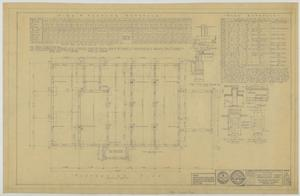 Primary view of object titled 'First Baptist Church Educational Building, Breckenridge, Texas: Foundation Plan'.