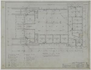 Primary view of object titled 'First Baptist Church, Albany, Texas: Ground Floor Plan'.