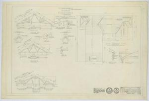 Primary view of object titled 'Methodist Church Building, Loraine, Texas: Roof Framing Plan'.