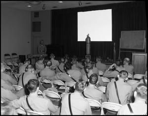 Primary view of object titled '[Police Department Meeting at Beaumont Service Center #3]'.