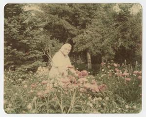 [Photograph of an Older Woman Standing in a Field of Wild Flowers]