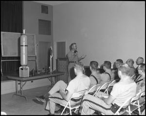 Primary view of object titled '[Police Department Meeting at Beaumont Service Center #5]'.
