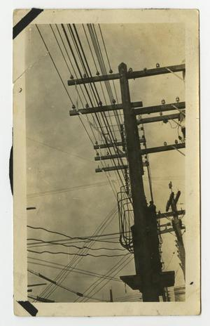 Primary view of object titled '[Power Lines Connected to Utility Pole #2]'.