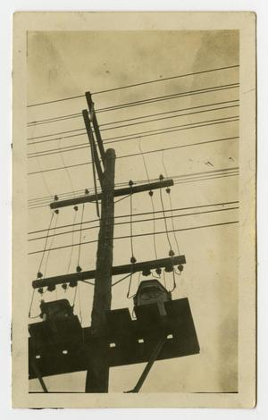 Primary view of object titled '[Power Lines Connected to Utility Pole #1]'.