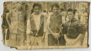 [Photograph of Four Boys Outside]