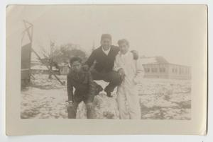 [Photograph of Three Boys Posing in the Snow]