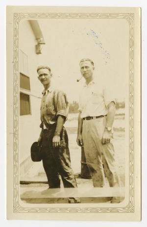 Primary view of object titled '[Jake Marshall and Walter Straughn]'.