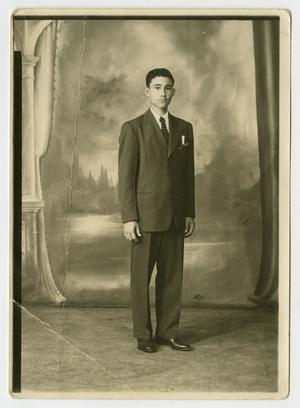 [Portrait of Young Man Wearing a Suit]