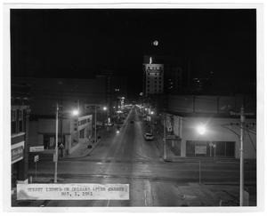 Primary view of object titled 'Street Lights on Orleans After Change #1'.