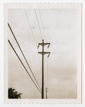 Primary view of object titled '[Power Lines Connected to Utility Pole #4]'.