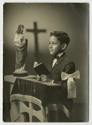 [Portrait of Young Boy at First Communion, Gonzalo Martinez, Jr.]