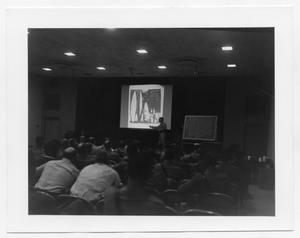 Primary view of object titled '[Police Department Meeting at Beaumont Service Center #8]'.