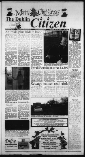 Primary view of object titled 'The Dublin Citizen (Dublin, Tex.), Vol. 17, No. 16, Ed. 1 Thursday, December 21, 2006'.
