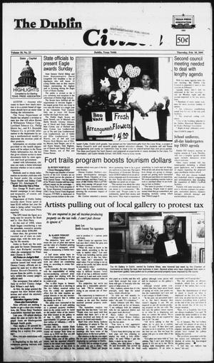 Primary view of object titled 'The Dublin Citizen (Dublin, Tex.), Vol. 10, No. 23, Ed. 1 Thursday, February 10, 2000'.