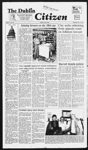 Primary view of object titled 'The Dublin Citizen (Dublin, Tex.), Vol. 11, No. 24, Ed. 1 Thursday, February 15, 2001'.
