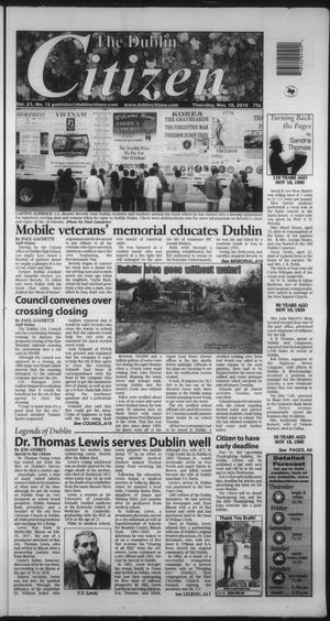 Primary view of object titled 'The Dublin Citizen (Dublin, Tex.), Vol. 21, No. 12, Ed. 1 Thursday, November 18, 2010'.