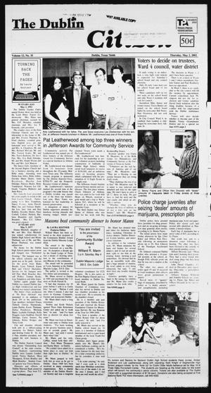 Primary view of object titled 'The Dublin Citizen (Dublin, Tex.), Vol. 12, No. 35, Ed. 1 Thursday, May 2, 2002'.