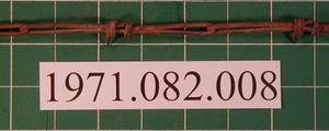 Primary view of object titled 'Crandal's Telegraph Splice barbed wire, Patented May 24, 1881'.