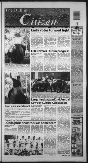 Primary view of object titled 'The Dublin Citizen (Dublin, Tex.), Vol. 20, No. 35, Ed. 1 Thursday, April 29, 2010'.