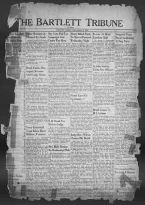 Primary view of object titled 'The Bartlett Tribune and News (Bartlett, Tex.), Vol. 65, No. 9, Ed. 1, Friday, January 4, 1952'.