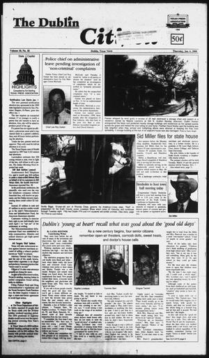 Primary view of object titled 'The Dublin Citizen (Dublin, Tex.), Vol. 10, No. 18, Ed. 1 Thursday, January 6, 2000'.